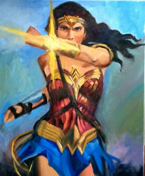 Wonder Woman in Battle