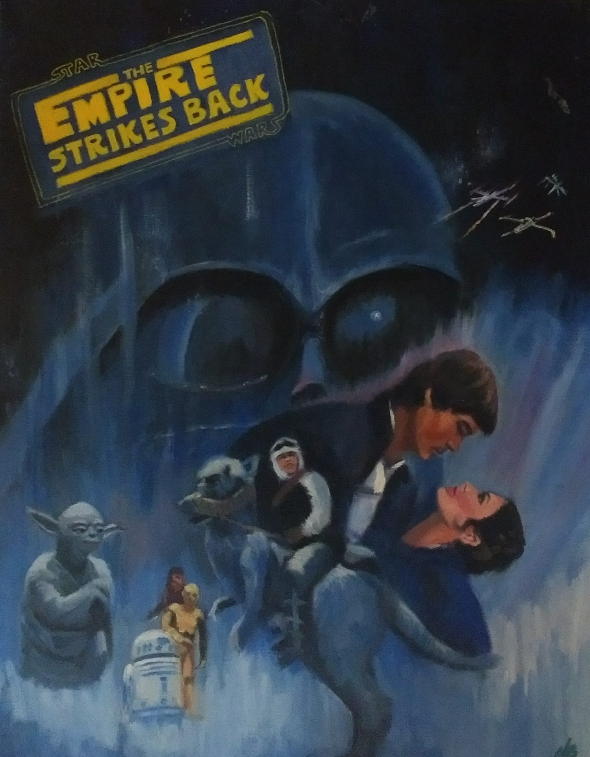 Empire Strikes Back Movie poster homage